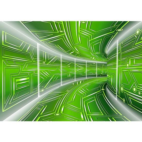 Fototapete no. 3212 | Vlies | 3D Tapete Space, Raumstation, Micro grün Motiv 3212
