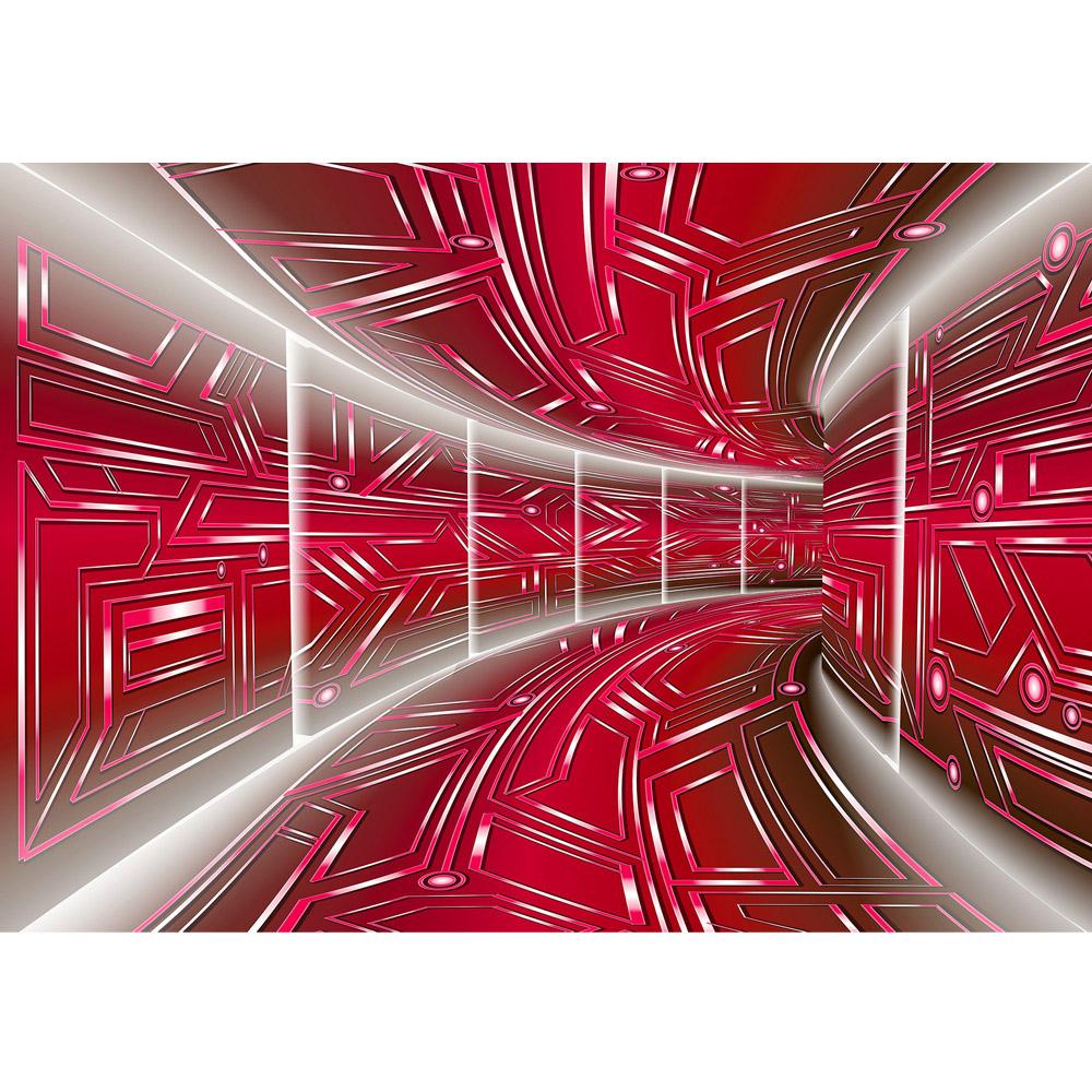 Fototapete no. 3213 | Vlies | 3D Tapete Space, Raumstation, Micro rot Motiv 3213