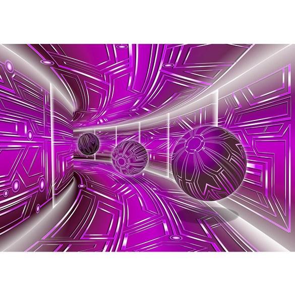 Fototapete no. 3216 | Vlies | 3D Tapete Space, Raumstation, Micro, Kugeln lila Motiv 3216