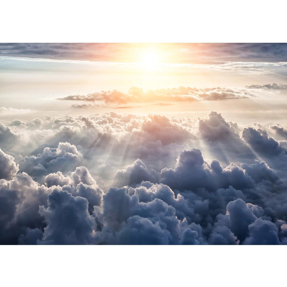 Fototapete no. 3222   Vlies   Himmel Tapete Sonne, Sonnenstrahlen, Wolken weiß Motiv 3222