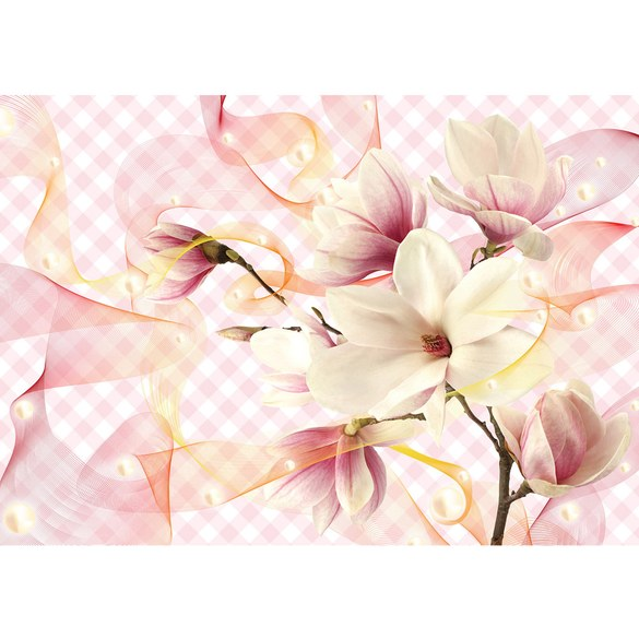 Mural no. 3237 | Non-woven or Paper | flowers wallpaper tulips waves flowers