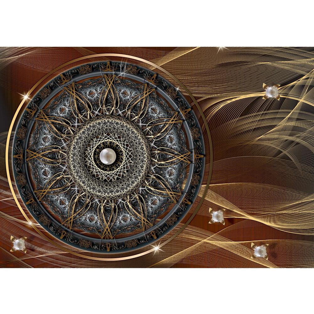 Fototapete no. 3239 | Vlies | OrnamenteTapete Mandala, Sterne, Perlen braun Motiv 3239
