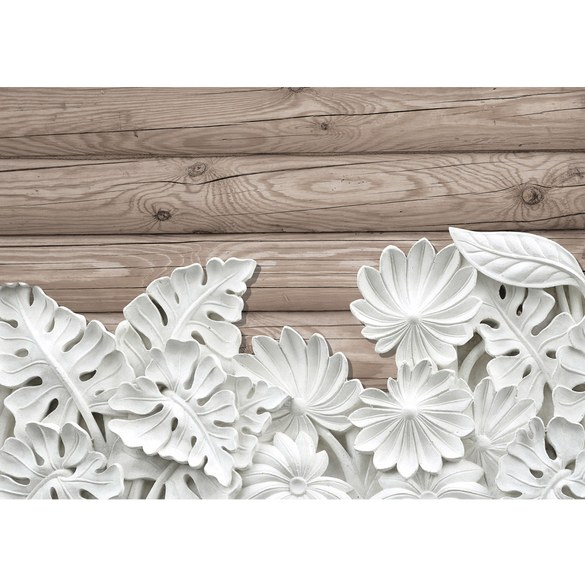 Mural no. 3249 | Non-woven or Paper | ornaments wallpaper leaves flowers
