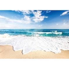 Fototapete no. 3263 | Vlies | Meer Tapete Sandstrand, Wellen, Gischt, Himmel Motiv 3263