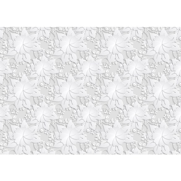 Mural no. 3264 | Non-woven or Paper | flowers wallpaper flowers leaves