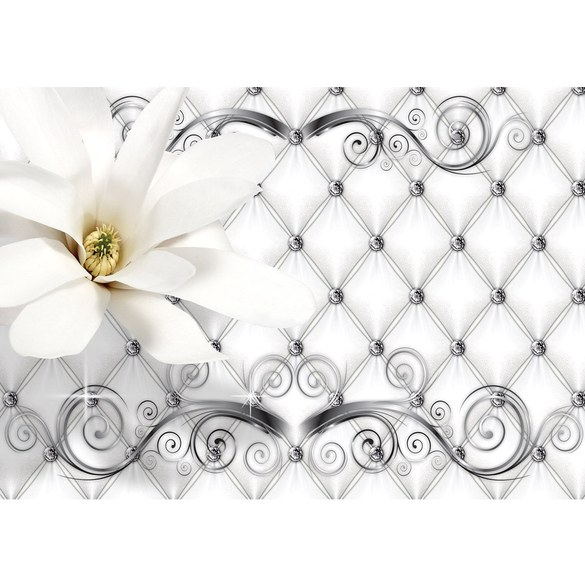 Mural no. 3270 | Non-woven or Paper | flowers wallpaper flowers leaves