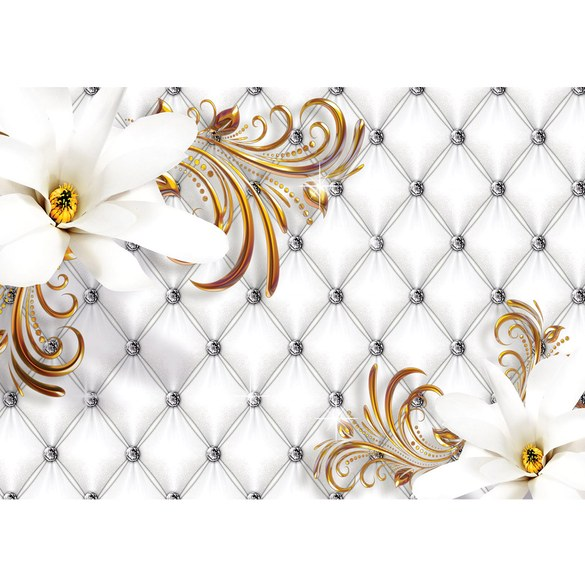 Mural no. 3274 | Non-woven or Paper | flowers wallpaper flowers leaves