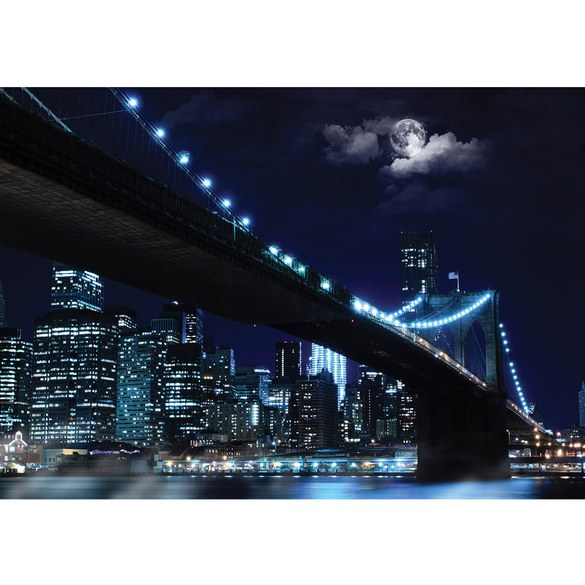 Mural no. 3284 | Non-woven or Paper | new york wallpaper brooklyn bridge
