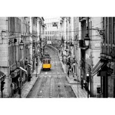 Mural no. 3286 | Non-woven or Paper | city wallpaper tram old town alleys