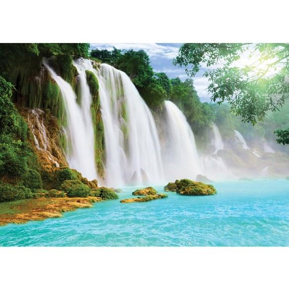 Fototapete no. 3296 | Vlies | Wasser Tapete Wasserfall, Dschungel, See, Fluss, Motiv 3296