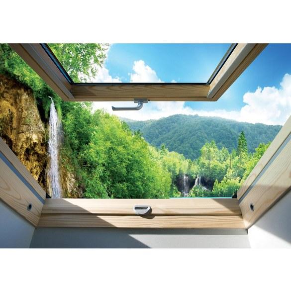 Fototapete no. 3301 | Vlies | Berge Tapete Wasserfall, See, Wald, Mittelgebirge, Motiv 3301