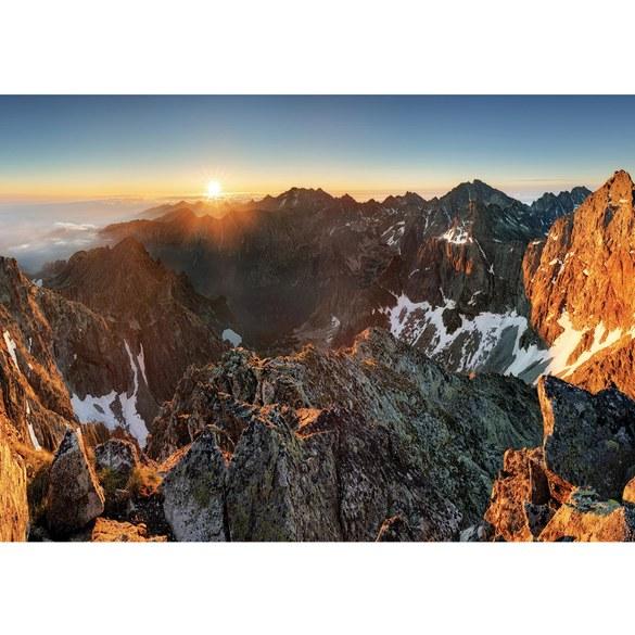 Fototapete no. 3351 | Vlies | Berge Tapete Abendhimmel, Gebirge, Hochalpen, Motiv 3351