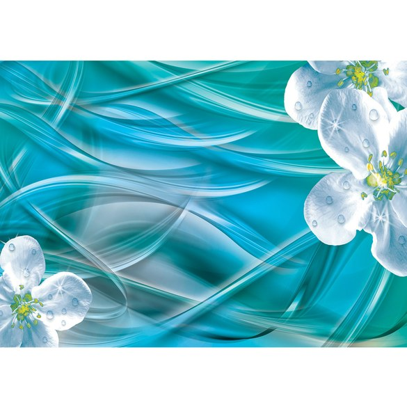 Mural no. 3366 | Non-woven or Paper | orchids wallpaper flowers glitter