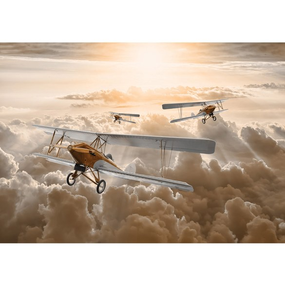Mural no. 3382 | Non-woven or Paper | sky wallpaper sky clouds biplane