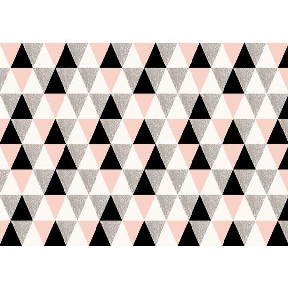 Non-woven Mural no. 3407   Ornaments wallpaper polygons, triangles, diamonds colorful Motiv