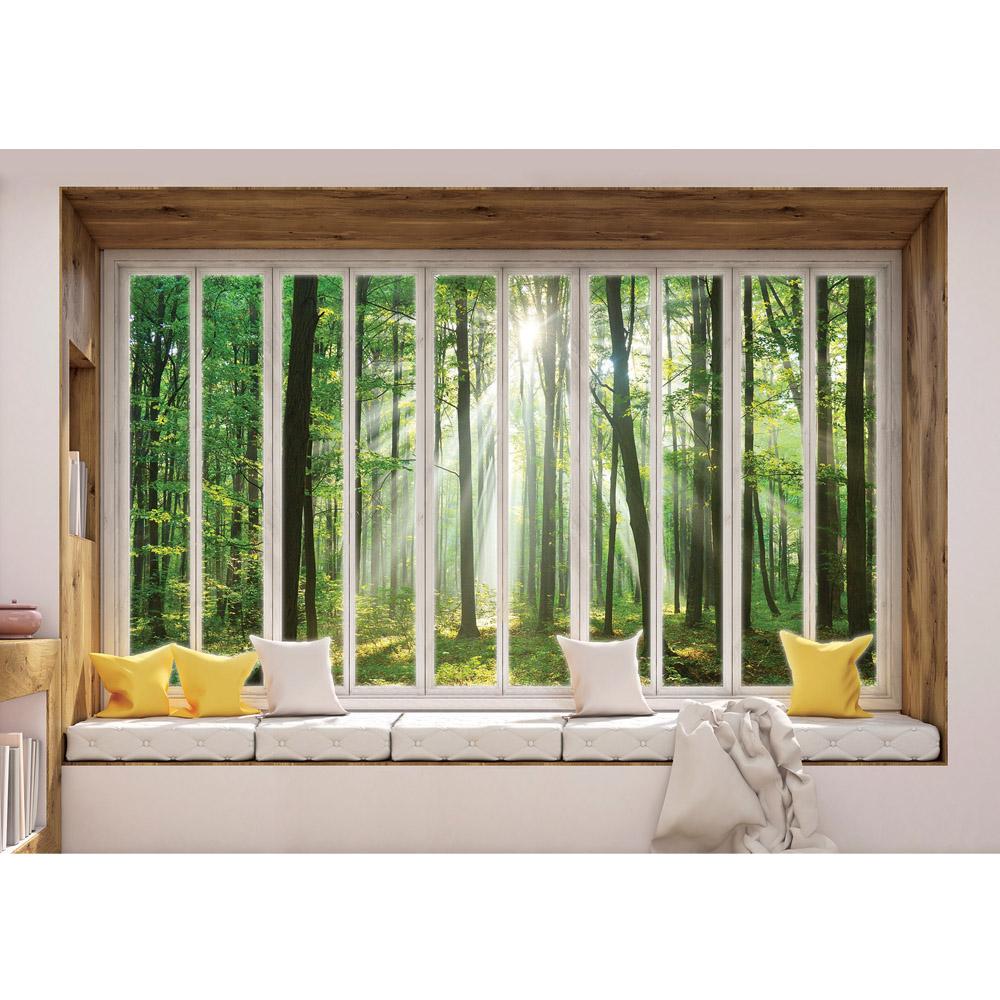 Fototapete no. 3436 | Vlies | Wald Tapete Laubwald, Sonne, Sonnenstrahlen, Motiv 3436