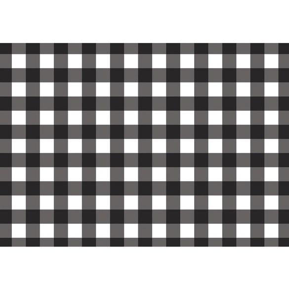 Non-woven Mural no. 3452   Texturen Tapete Pepita, Schachbrett, gewürfelt schwarz - weiß Motiv