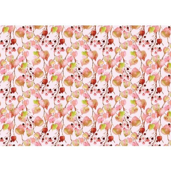 Fototapete no. 3469 | Vlies | Texturen Tapete Herbst, Blätter, Beeren, Zweige Motiv 3469