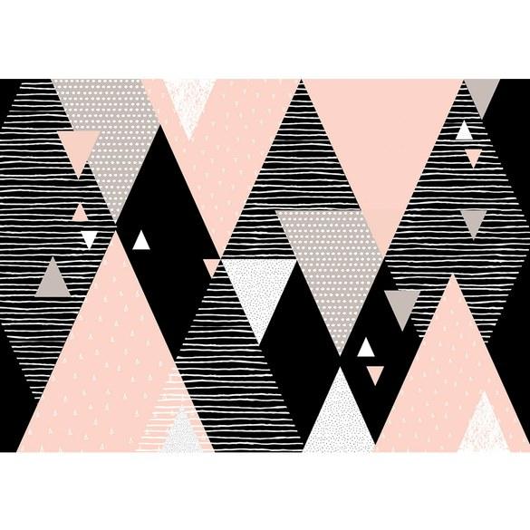 Fototapete no. 3474 | Vlies | Texturen Tapete Dreiecke, Rauten, Retro, Sixties Motiv 3474
