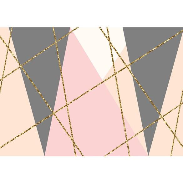 Fototapete no. 3475 | Vlies | Texturen Tapete Dreiecke, Polygone, Retro, Sixties Motiv 3475