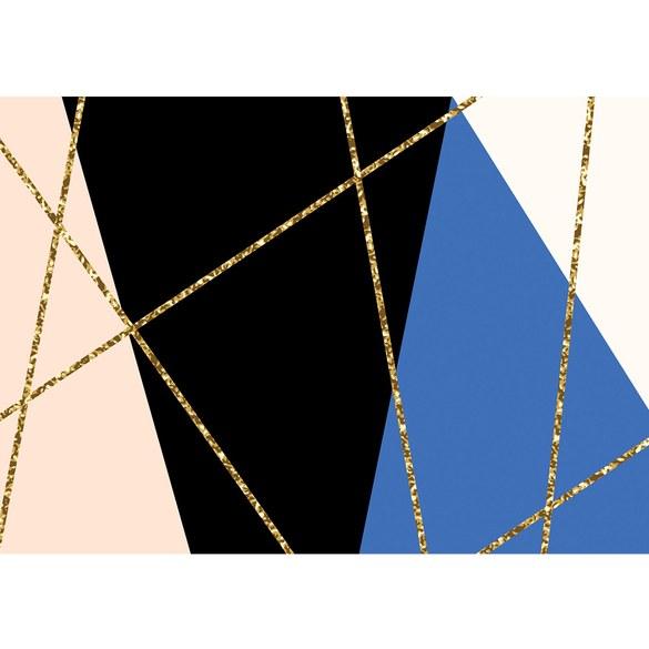 Fototapete no. 3485 | Vlies | Texturen Tapete Dreiecke, Polygone, Retro, Sixties Motiv 3485