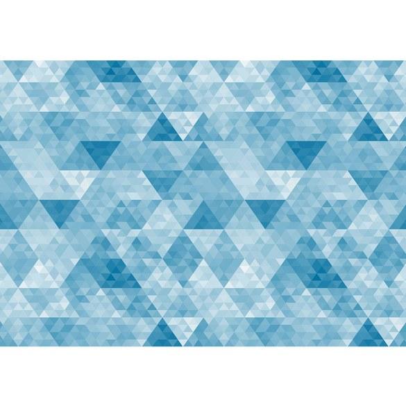Fototapete no. 3491 | Vlies | Texturen Tapete Polygone, Dreiecke, Rauten blau Motiv 3491