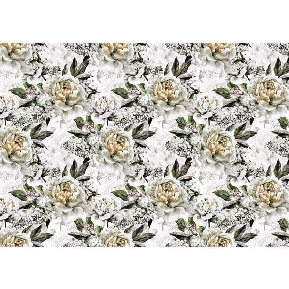 Fototapete no. 3550 | Vlies | Blumen Tapete Rosen, Blüten, Natur weiß Motiv 3550
