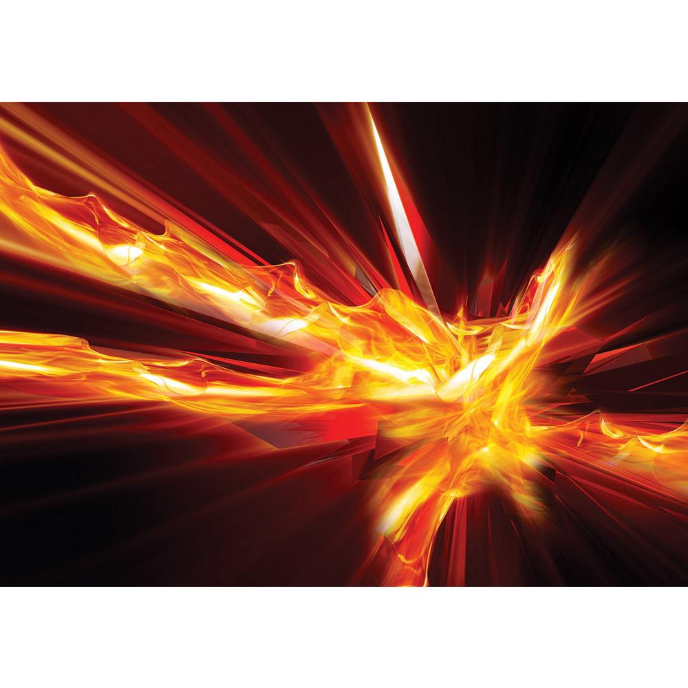 Fototapete no. 3571 | Vlies | Texturen Tapete Feuer, Abstarkt, Kunst rot Motiv 3571