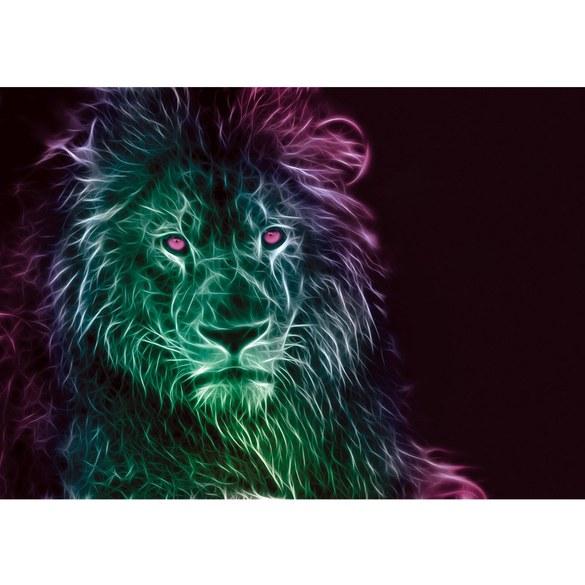 Fototapete no. 3578 | Vlies | Kunst Tapete Löwe, Illustration, Lichter schwarz Motiv 3578