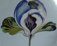 6772 Tulipan blue Ulf Moritz - SCALA Wandsticker, Dekor: Blumen,Sticker,Wandsticker