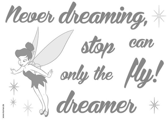 1-4001 Never Stop Dreaming Wandsticker