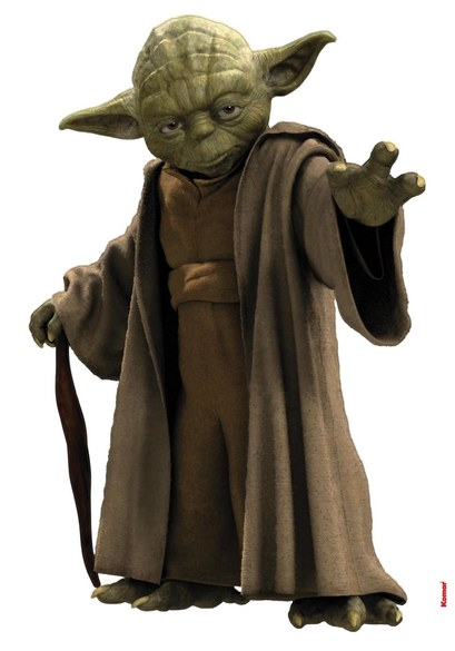 1-4721 Star Wars - Yoda Wandsticker