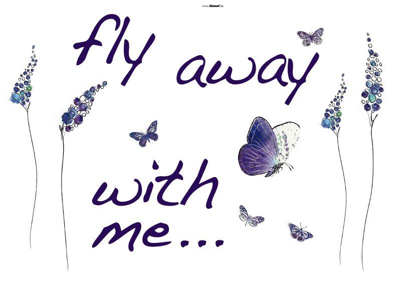 1-7719 Fly away Wandsticker