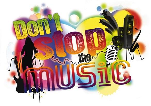 1-7721 Do not stop the music Wandsticker