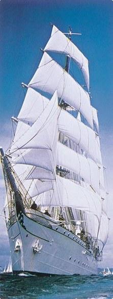 2-1017 Sailing Boat door wallpaper