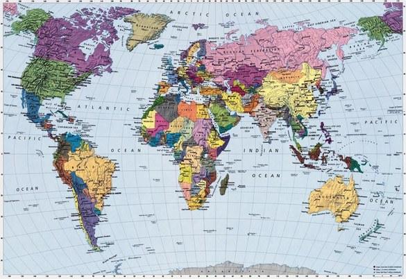 4-050 Weltkarte Fototapete