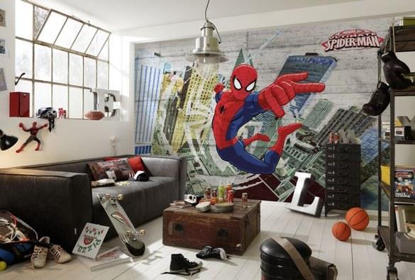 APH-467 Spiderman Beton Fototapete