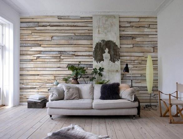 APH-920 Helles Holz Fototapete – Bild 2