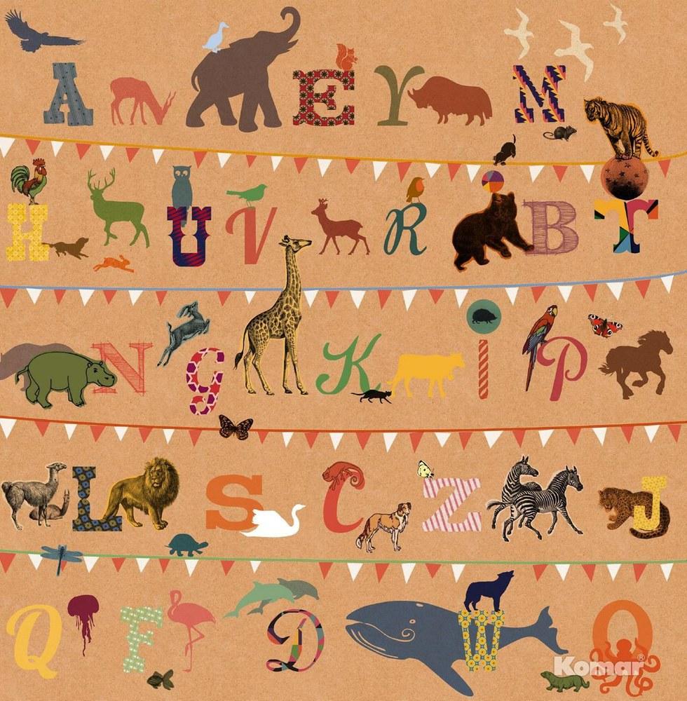 AVE-782 Alphabet Fototapete
