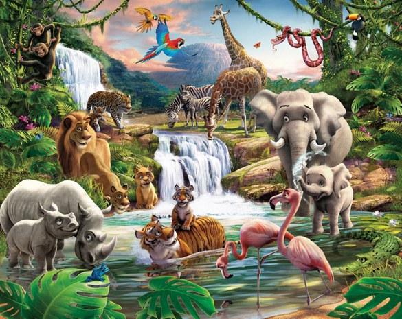 DW-41776 Wandbild: Entdecke den Dschungel Fototapete