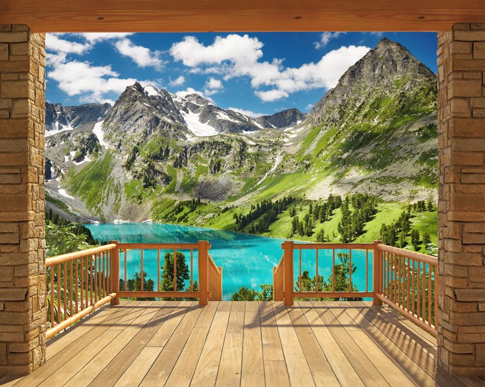 DD-361 Berghütte Fototapete