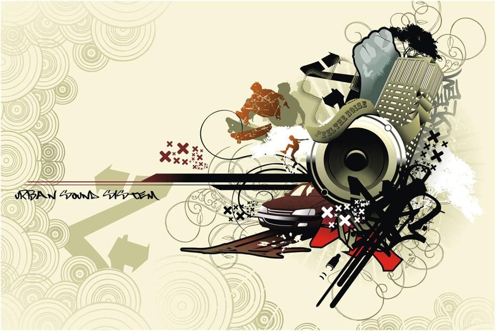 0350-2 Wandbild - Motiv: Noise
