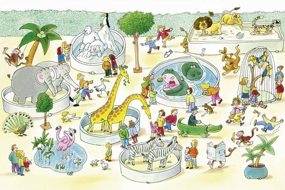 0350-6 Wandbild - Motiv: Zoo