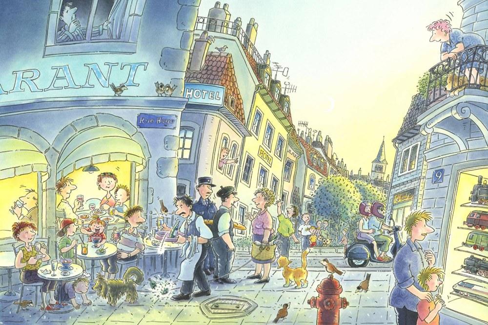 0351-1 Wandbild - Motiv: Rue Hugo