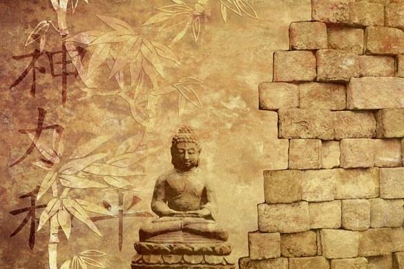 0360-6 mural - design: Buddha In Meditation