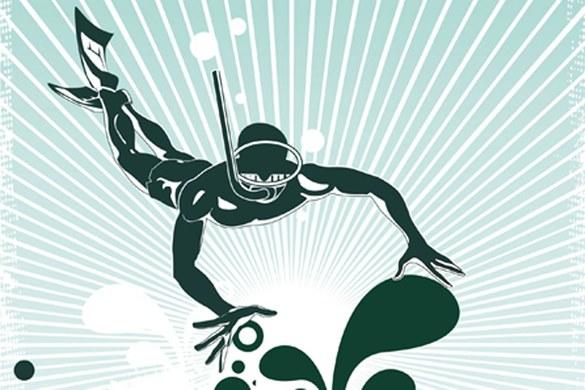 0369-7 mural - design: Illustration Diving