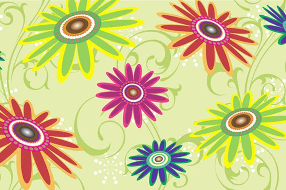 0369-9 Wandbild - Motiv: Stilisierte Blumenwiese