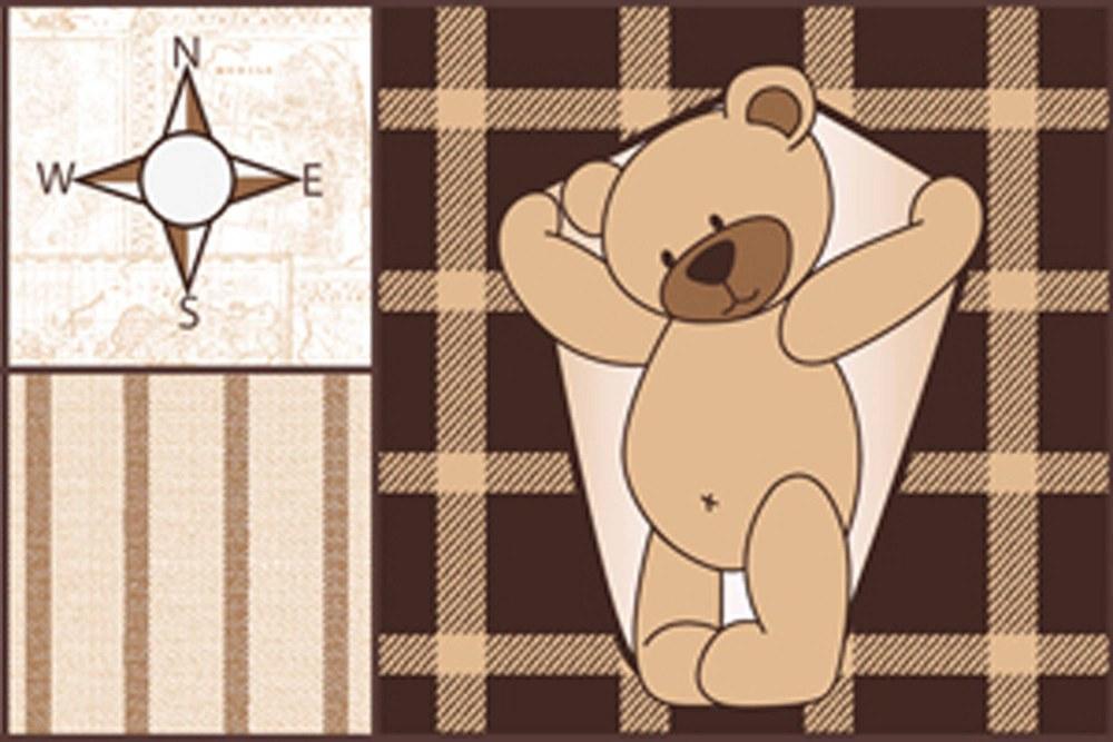 0370-4 Wandbild - Motiv: Bordüre Teddy Braun