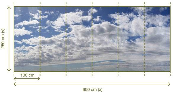 47-102 Wandbild - Motiv: Wolken – Bild 3