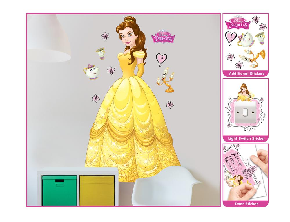 DD-435 Wandsticker: Disney Princess Belle Wandsticker